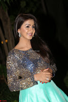 Nikki Galrani in Green Skirt  Top at Marakathamani music launch ~  Exclusive (77).JPG