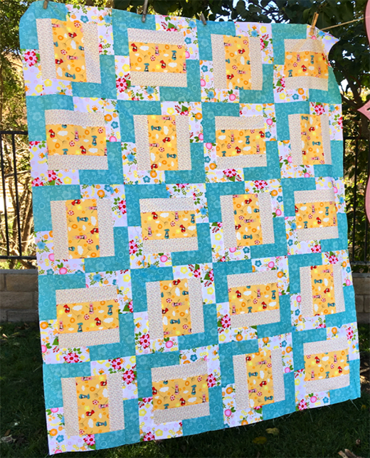 Windy Girls Quilt Free Tutorial designed by Amanda, aka Jedi Craft Girl