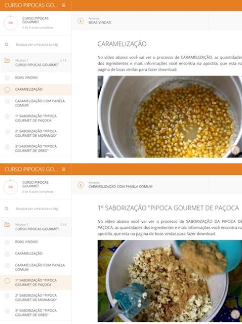 """""""Curso Online de Pipocas Gourmet"""""""