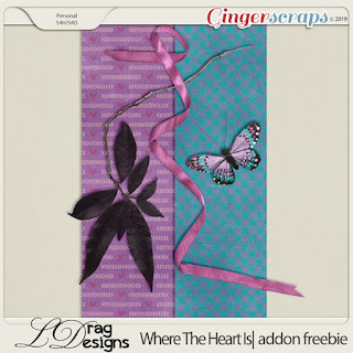 Creative Team for LDrag Designs -   Where The Heart Is: The Collection and Coordinating Freebie