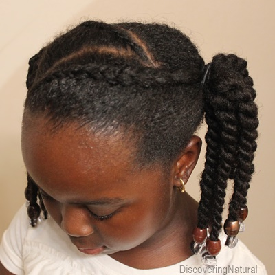 Quick Natural Hair Kids Hairstyle Zig Zag Cornrows With Beads