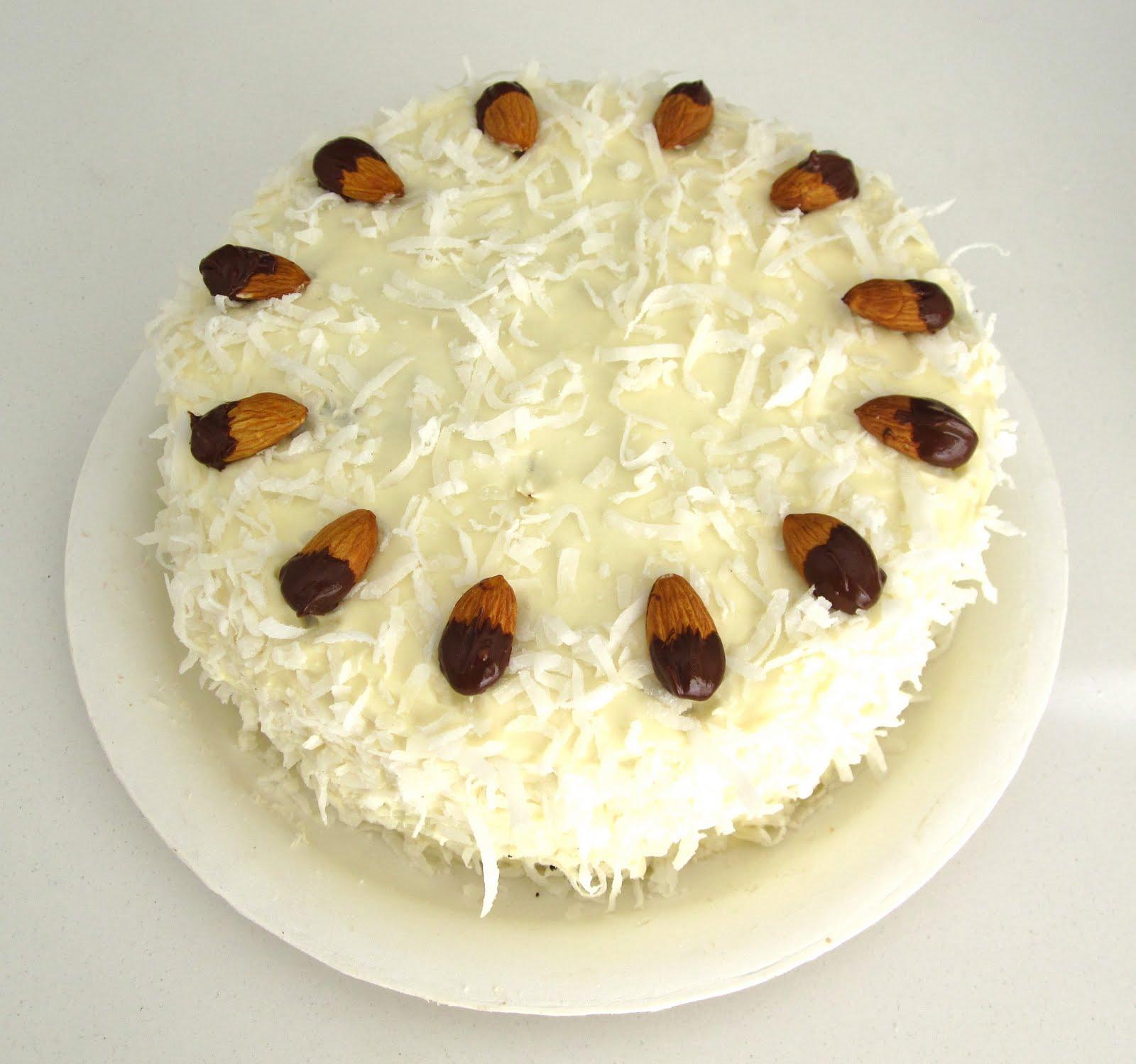 Amazing Almond Joy Cake Vegan The Lindsay Ann Personalised Birthday Cards Vishlily Jamesorg