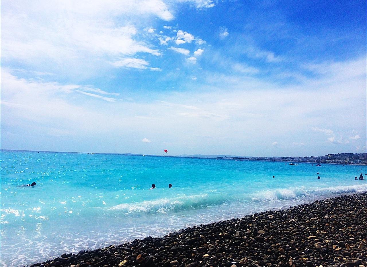 Clear Blue Ocean from the Beach, Nice