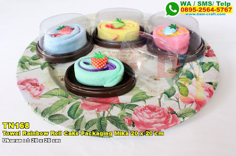 Towel Rainbow Roll Cake Packaging Mika 20 X 20 Cm