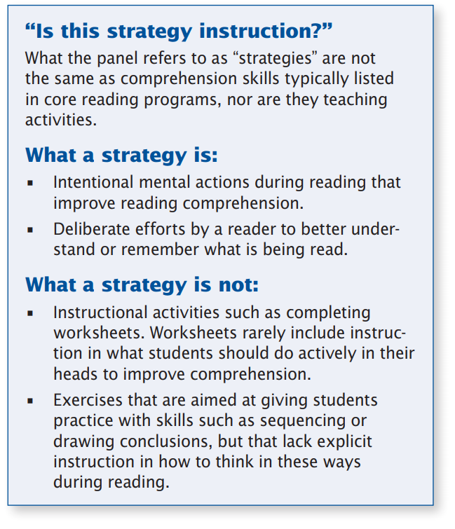 Prehension Strategies And The KS2 Reading Test What