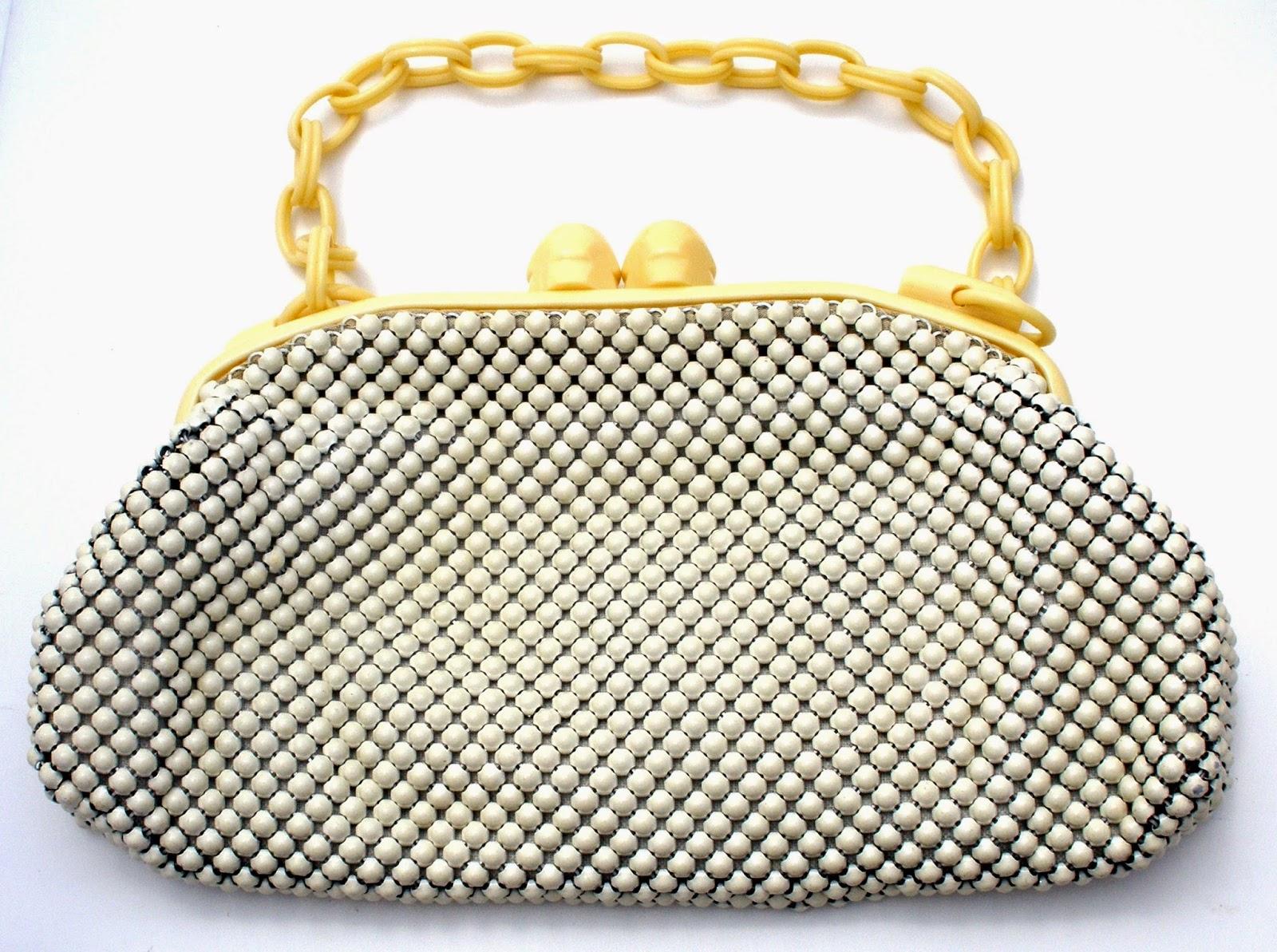 498cb514bb The Jewelry Lady s Store  Whiting   Davis White Enamel Mesh Purse