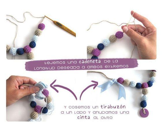 PUNTXET DIY Collar de lactancia de ganchillo #DIY #tutorial #crochet #ganchillo #handmade #bebes #babies