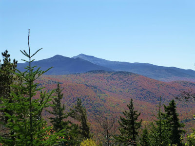 View of Whiteface and Esther Mountains from Catamount, Monday 10/10/2016.  The Saratoga Skier and Hiker, first-hand accounts of adventures in the Adirondacks and beyond, and Gore Mountain ski blog.