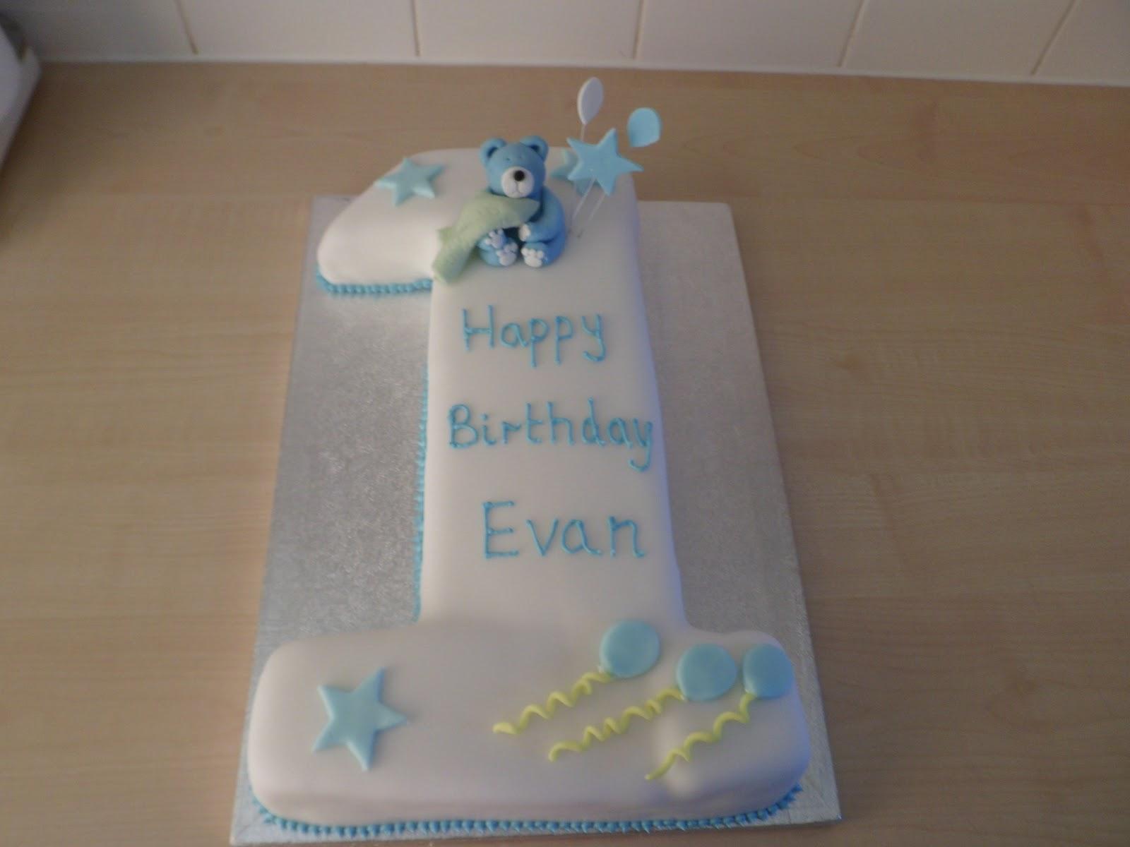 Baby Boys 1st Birthday Cake