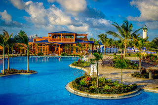 Land shark Pool on Harvest Caye, Belize, Norwegian Cruise Line Holdings