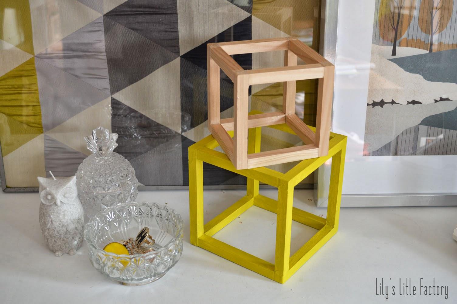 objet d co des cubes en bois couleur mimosa lily 39 s little factory blog diy bretagne. Black Bedroom Furniture Sets. Home Design Ideas