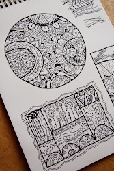 zentangle challenge drawing hotcakes felt tip nice drawings draw patterns spotgirl overthink prismacolor handy supply must