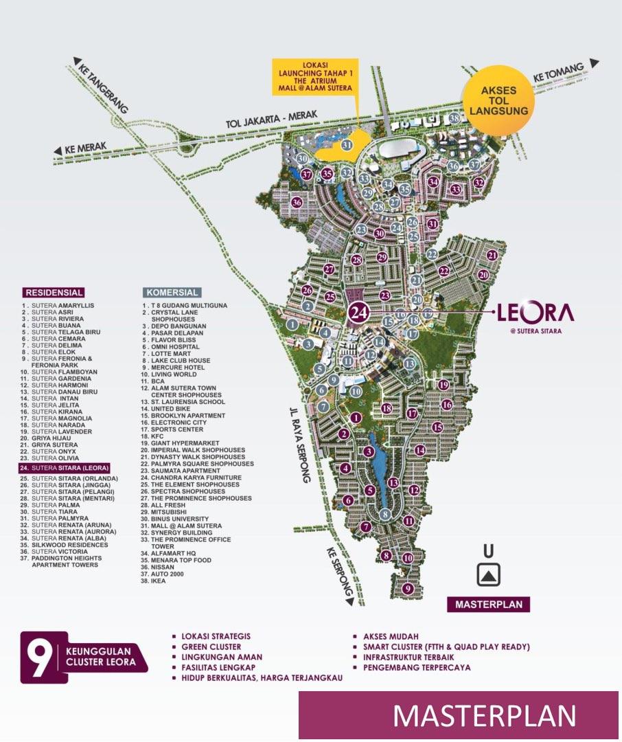 Master Plan Alam Sutera - Cluster Leora