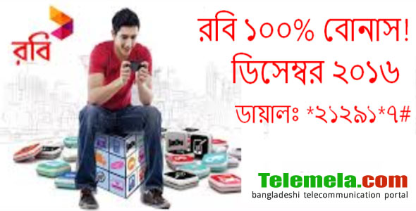 Robi 100% Usage Bonus offer