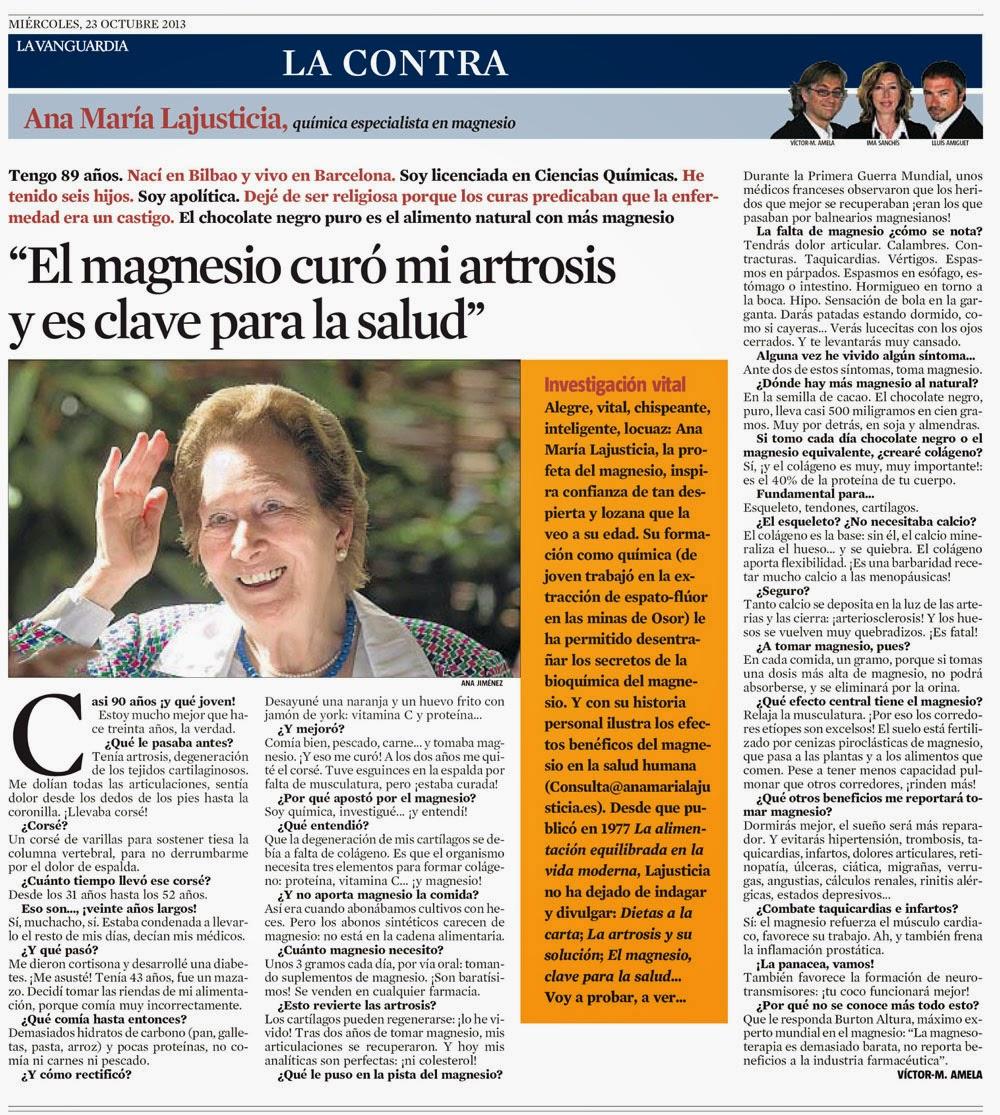 Ana María Lajusticia en la Contra de la Vanguardia