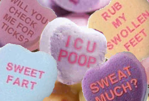 candy hearts for hikers