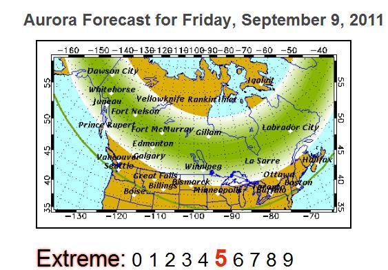 Northern Lights Forecast Winnipeg