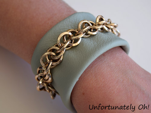 leather chain cuff DIY