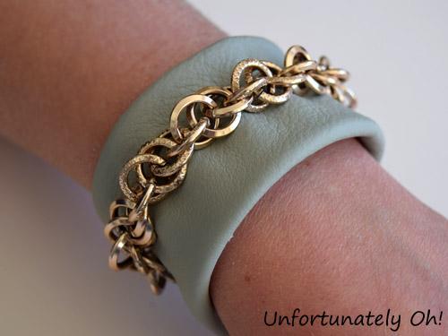 leather chain cuff DIY