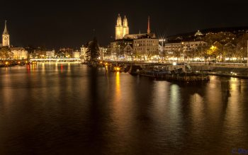 Wallpaper: Zurich City Lights