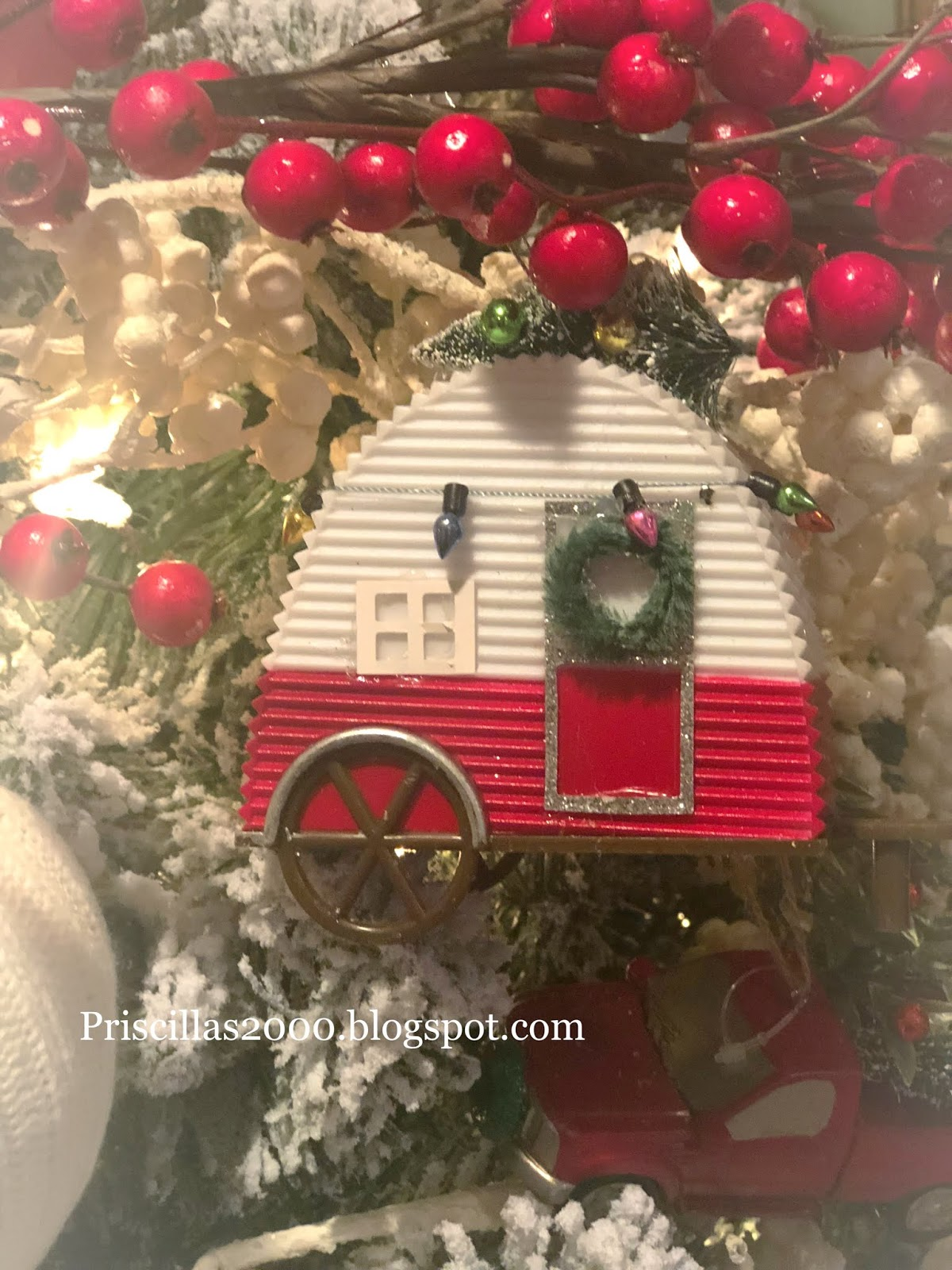 Priscillas Red Truck Christmas Tree