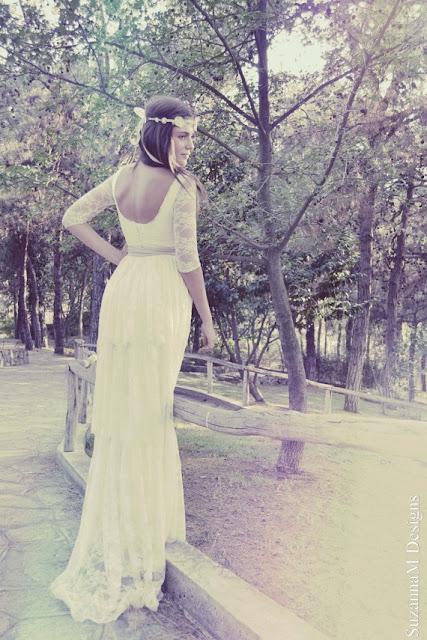 vestidos de novia sencillos con manguitas