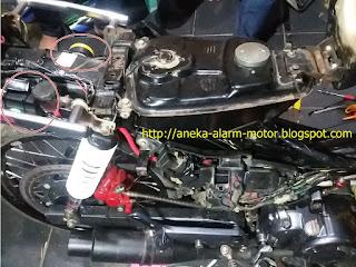Cara pasang alarm motor remote pada Honda Supra X
