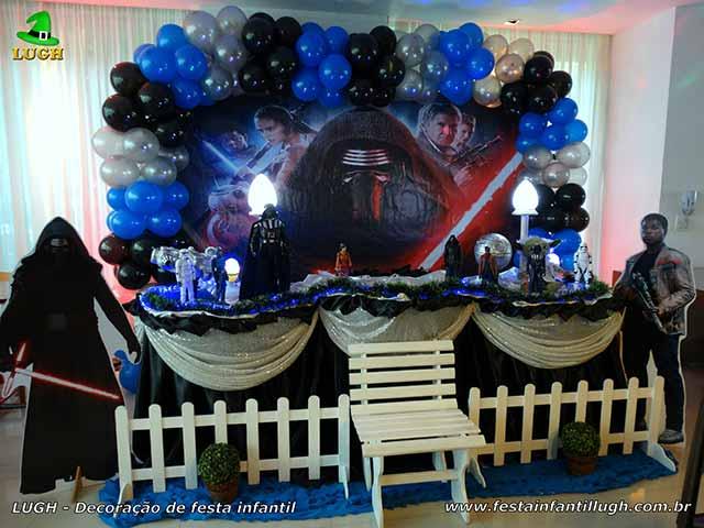 Decoração Star Wars - Mesa tradicional luxo de tecido para festa de aniversário infantil - Barra(RJ)