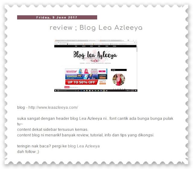 blog lea azleeya