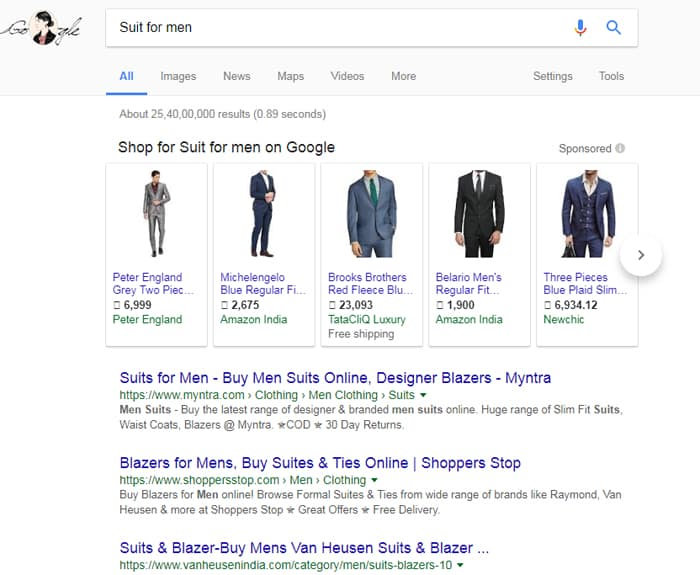 Search Suit for men