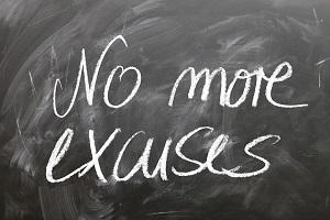 Fuera excusas, una barrera creativa