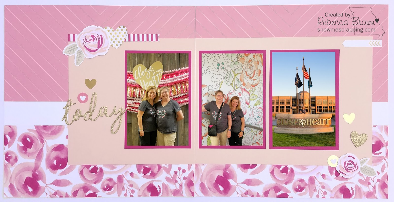 Show me scrapping blog a layout to remember a special today in in the first picture my friend faye and i are posing in front of a nice photo opp they had set up soon after we came into the building kristyandbryce Image collections