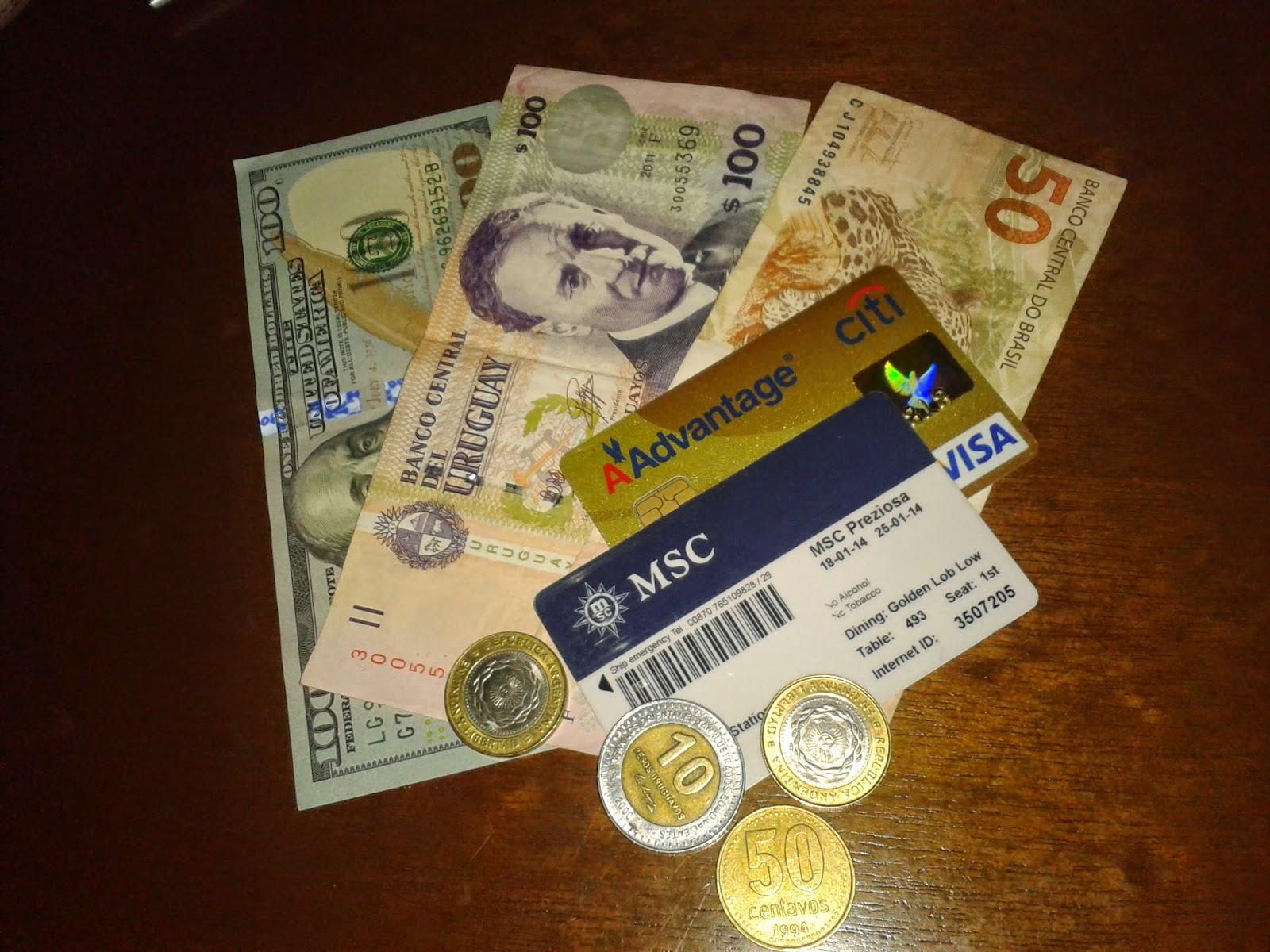 Que moeda levar em um cruzeiro marítimo?