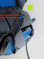 Lautstärke: LIHAO Sades SA-738 Spiel Kopfhörer Stereo USB Gaming Headset mit Mikrofon Blau LED Leuchte mit Sades Retail Geschenk Verpackung
