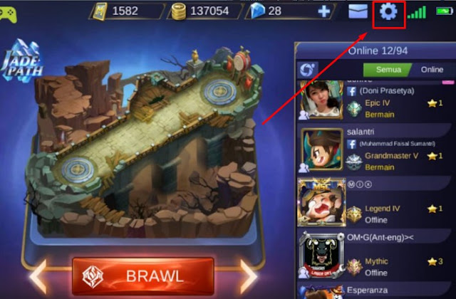 pengaturan mobile legend