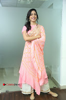 Actress Ritu Varma Pos in Beautiful Pink Anarkali Dress at at Keshava Movie Interview .COM 0171.JPG