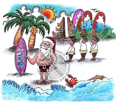 Santa holiday in Bali 01