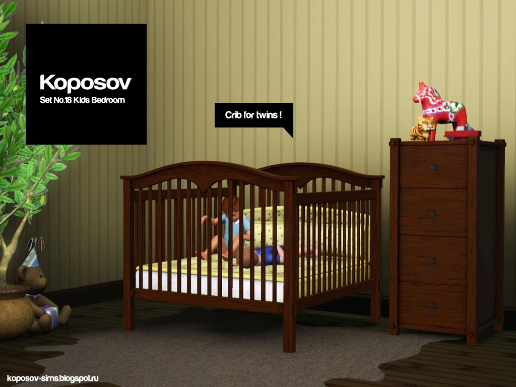 Baby Stroller Parts Koposov Objects For The Sims™ Set No 18 Kids Bedroom