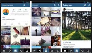 tampilan aplikasi instagam versi lama