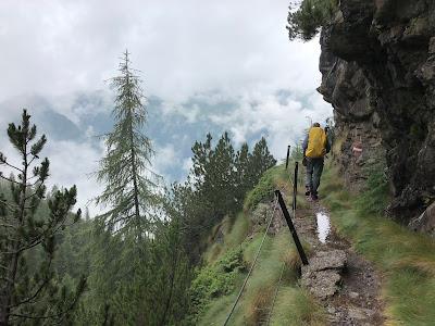 On the trail 213 above Carona on the way to Rifugio Calvi.