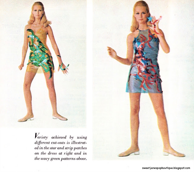 1960s plastic dress designs by betsey johnson