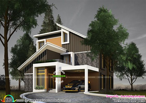 2431 sq-ft grand modern house plan