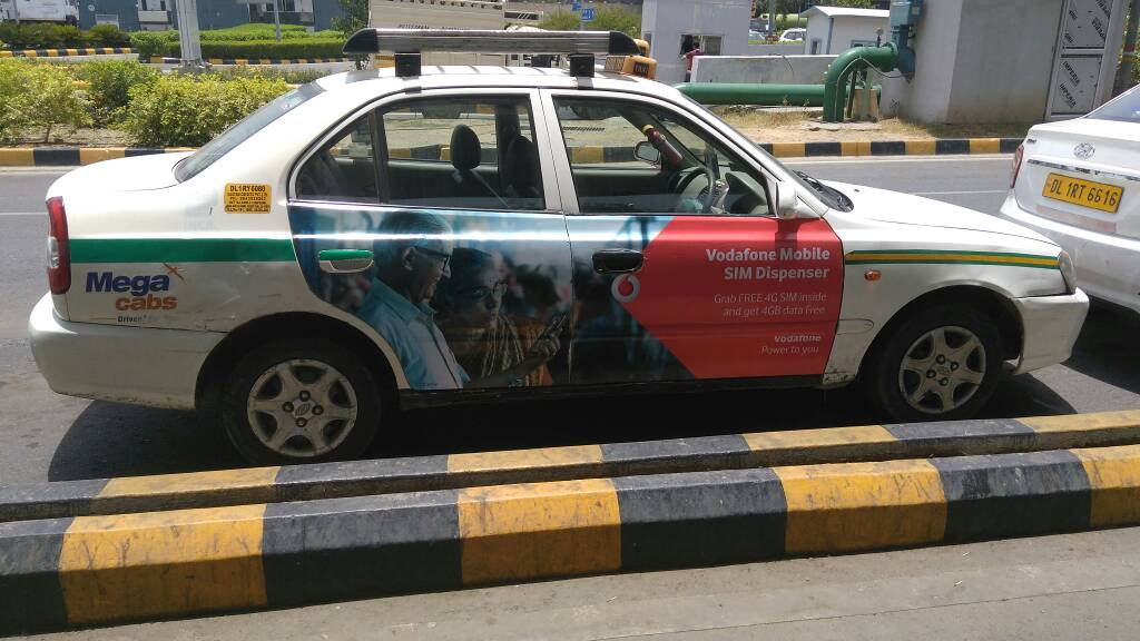 VODAFONE DELHI NCR TIES UP WITH CABS FOR FREE 4G SIM UPGRADE