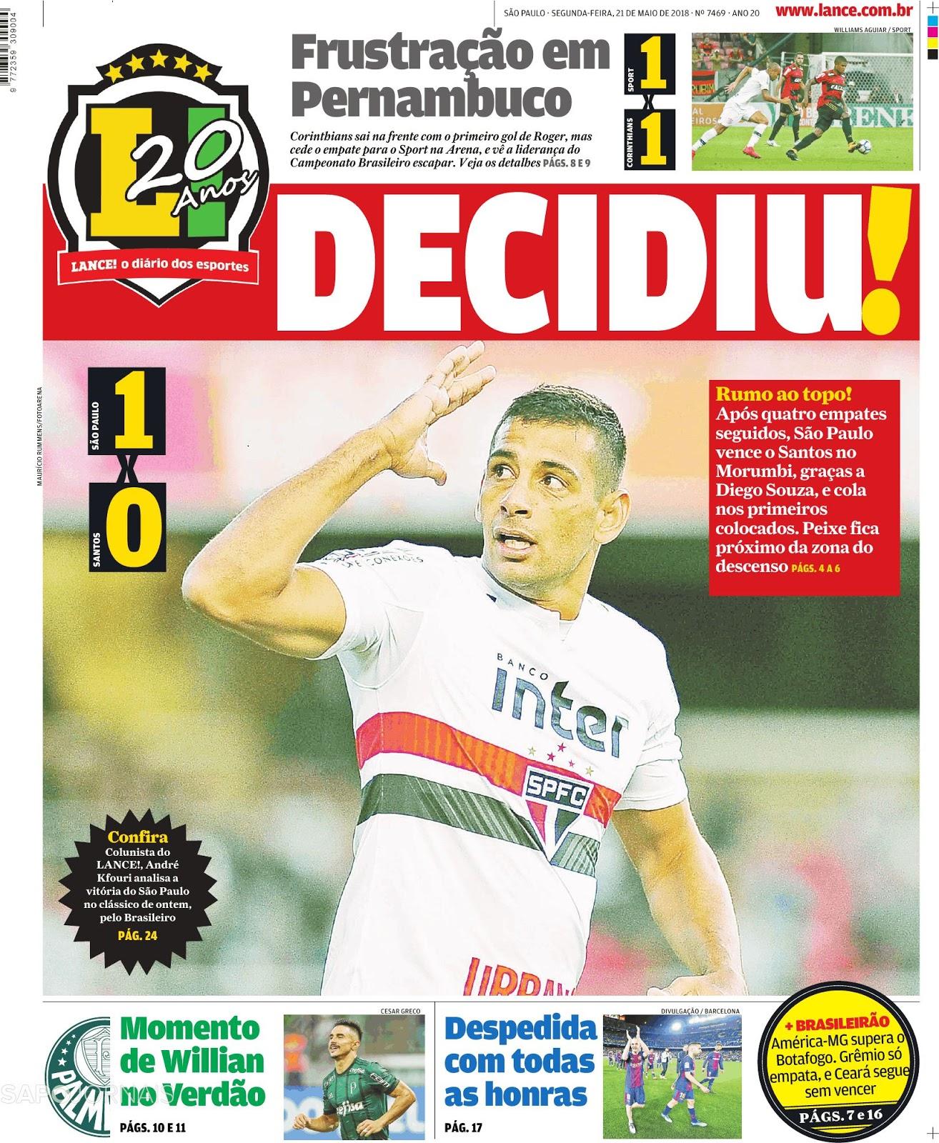 A 6ª rodada do Campeonato Brasileiro teve quatro partidas disputadas na  tarde deste domingo (20). São Paulo e América-MG foram os grandes destaques. 44990ef19e22d