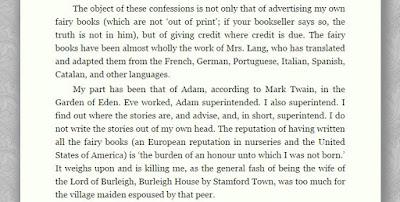 Prefácio do Livro Lilás das Fadas - Andrew Lang