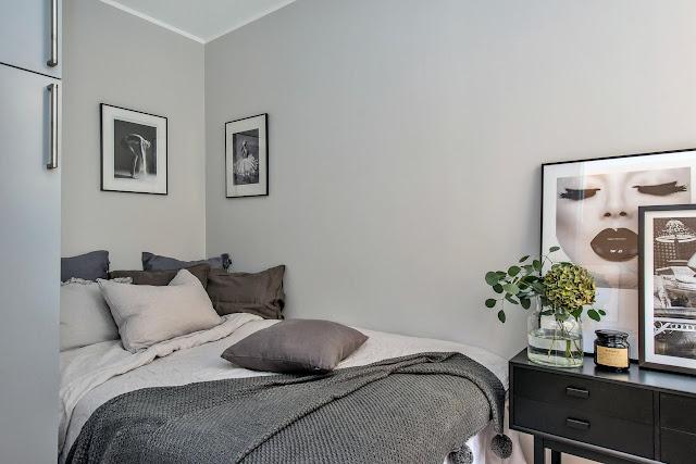 Kitnet ou Quitinete com decoração elegante. Blog Achados de Decoração