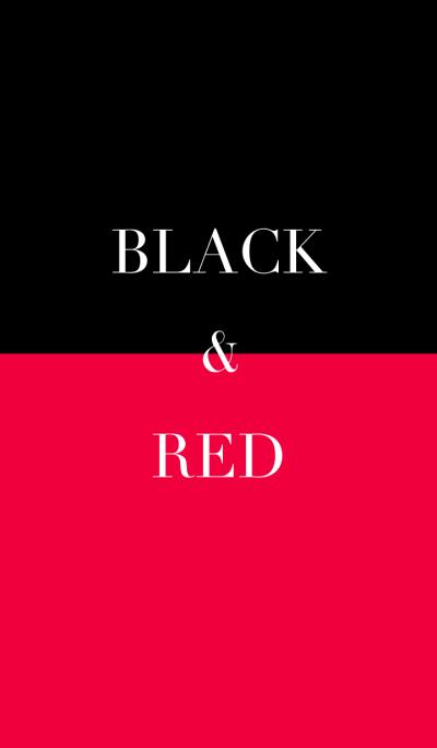 black & red .