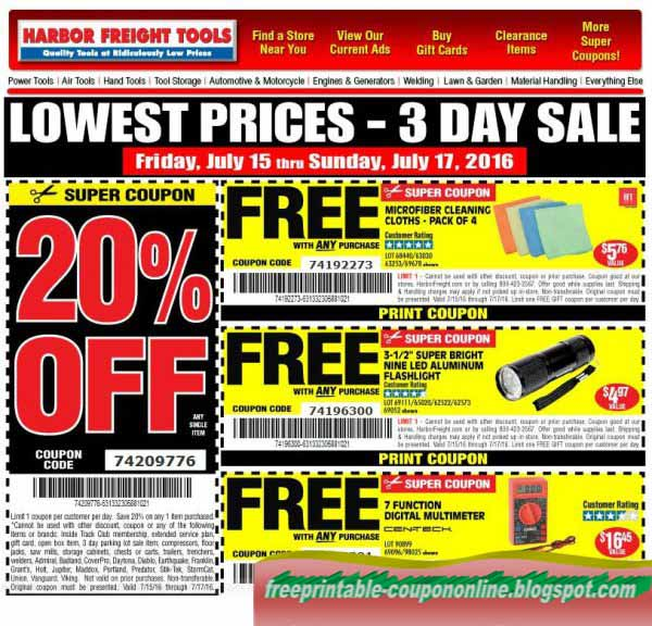 Harbor freight coupons 30 in store