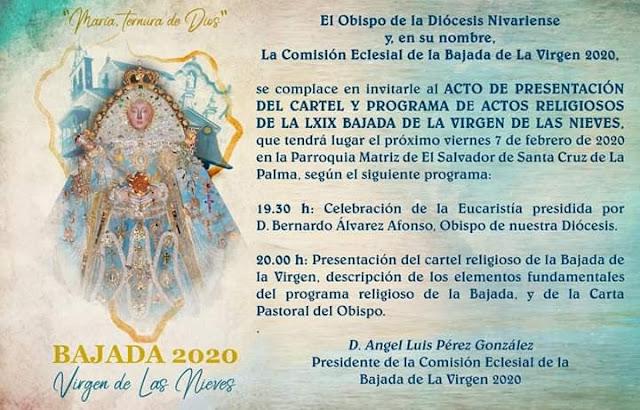 Presentación del cartel religioso de la LXIX de La Bajada de La Virgen de Las Nieves