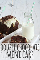 double chocolate mini cake rezept